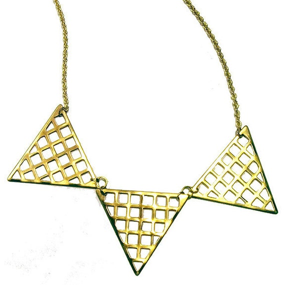 Grid Triangle Necklace