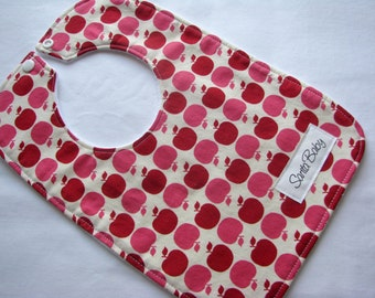 Baby Bib - Apples - Baby - Baby Girl Bib