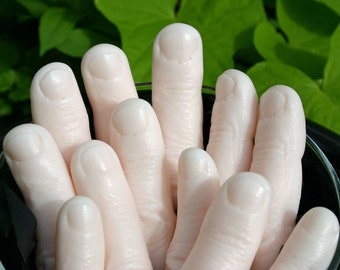 Halloween finger soap - bag o' shea butter fingers, for your own weirdly specialized purposes...