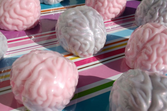 Reserved BRAIN PARADE - 4 brain soaps - weird therapist gift