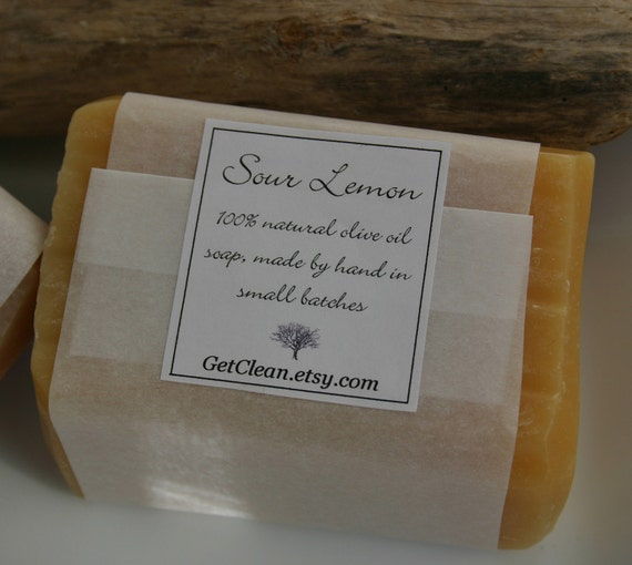 Tart Lemon cold process soap - refreshing & sweet - 100% natural
