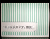 Bridal Shower Thank You Cards (Striped) - Set of 10