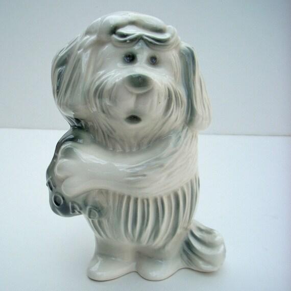 Ford Dog Bank 1950s Florence Ceramics Pasadena CA