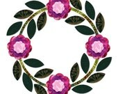 Rose of Sharon Fabric Appliques Quilting Kit