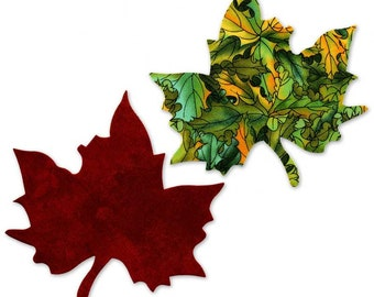 Maple Leaf Fusible Fabric Appliques Cotton Quilting Sewing Collage Die Cut