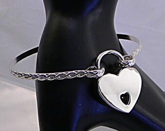 Made To Order Twisted & Tied Rope Motif Sterling Silver Locking Slave Cuff or Anklet