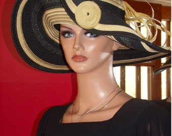 Summer Flapper Hat Cloche Church  Hat Derby   Wide Brim
