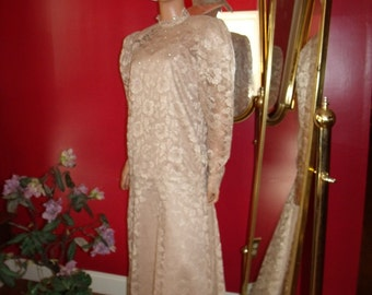 Vintage Lace Wedding Vintage Dress Flapper Evening Lace does 20-30s Size L