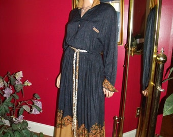 Vintage  Flapper Dress  80s Daytime Tea Party Office Lady Size N/A