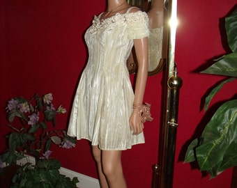 Vintage 90-91s does 20-30s Flapper Dress Wedding  Holiday Size 3/4