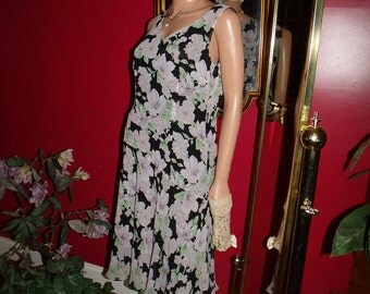 Vintage 90s Dress Flapper    does 20-30s T Ford Tea Party Office Lady Size 8