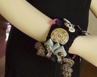 Freeform  Art Cuff Bracelet