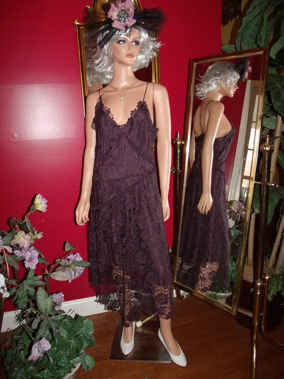 Lace Vintage Exclusive of decoration Dress Flapper   does 20-30s Size 42