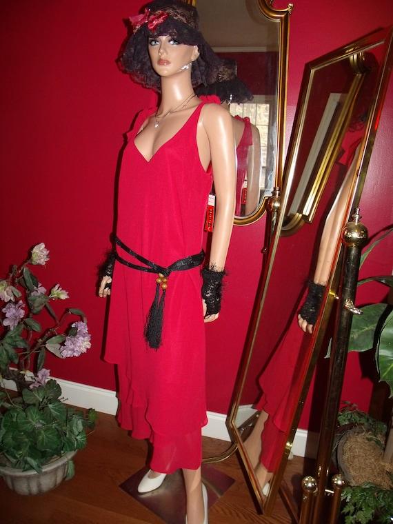 Vintage Valentine Flapper Dress  Daytime Evening Holiday  Valentine does 20-30s Size16