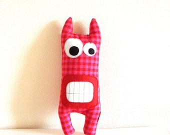 Monster Expressive Pink, stuffed toys, stuffed toy, plushie