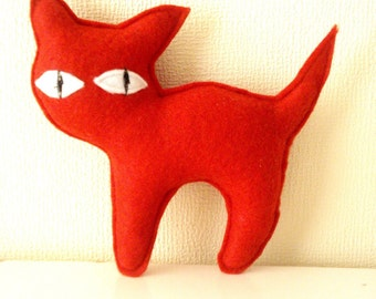 Red Cat Stuffed, Animal Doll, Stuffed Toy, Plushie