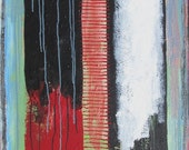 Abstract Acrylic Painting Oil Stick on Canvas