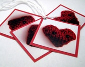 Photo Tags - Set of Four - Hearts