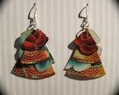 Fiesta - Recycled Paper Earrings
