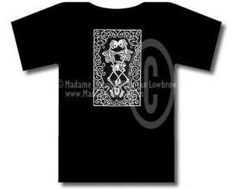 Madame Talbot's Victorian Lowbrow Till Death Do Us Part Black T-Shirt