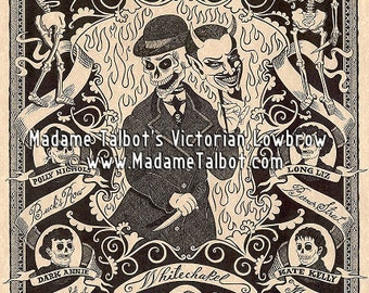 Madame Talbot's Victorian Lowbrow Victorian London Jack the Ripper Skull Devil Poster