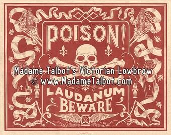 Madame Talbot's Victorian Lowbrow Laudanum Poison Label Medicine Poster