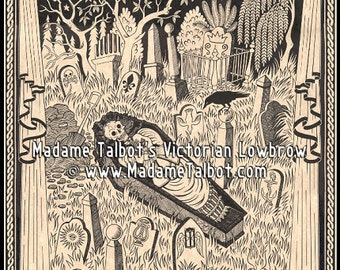 Vampire Garden Mercy Brown Poster Madame Talbot's Victorian Lowbrow New England