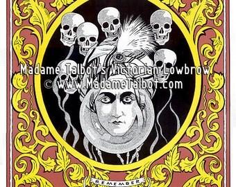 Fortune Teller Skulls Poster Madame Talbot's Victorian Lowbrow