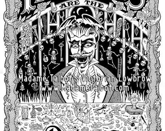 Madame Talbot's Victorian Lowbrow Idle Hands Devil's Playground Poster