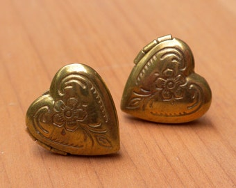 Heart Locket Studs