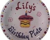 Personalized Birthday Plate Ceramic
