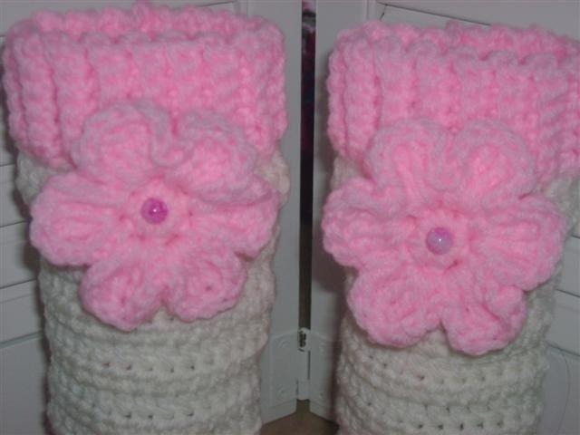 Free Crochet Patterns For Little Girl Leg Warmers : Crocheted Little Girls Boutique Leg Warmers by ...