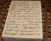 La Lettre French Script wood mounted Rubber Stamp