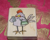 Chic Chick wood mounted Rubber Stamp from Penny Black