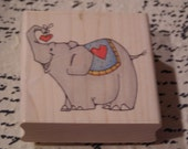 Tonka Elephant  Whipper Snapper mounted Rubber Stamp