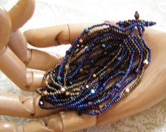 All That Jazz Multi-Strand Hand Beaded OOAK Bracelet