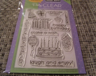 Celebrate All Day Hero Arts Clear Unmounted Stamps - 13 pieces