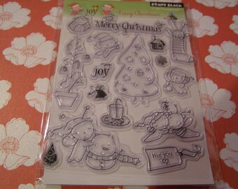 Fairy Christmas Penny Black set of Clear Unmounted Stamps - 16 pieces