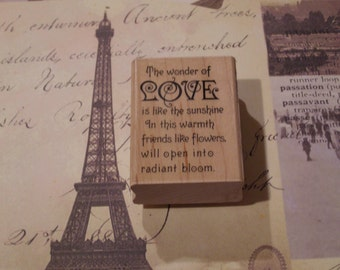 Wonder of Love wood mounted Rubber Stamp from Stampendous