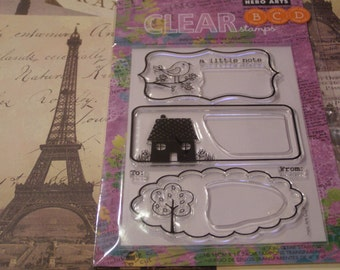 Hero Arts A Little Note Clear Unmounted Stamps - 5 pieces