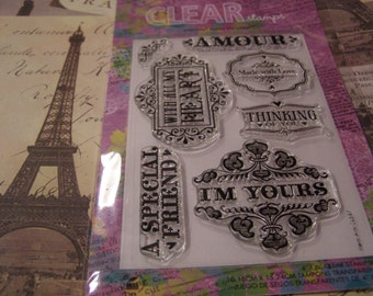 Hero Arts Amour  Clear Unmounted Stamps - 7 pieces