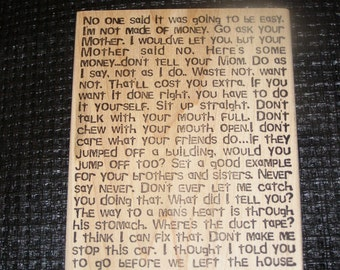 Dad Sayings wood mounted Rubber Stamp