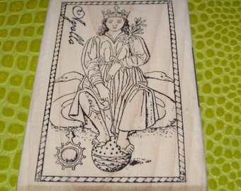 Apollo wood mounted Rubber Stamp