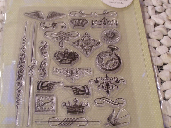 Shabby Chic Paris Mini Ornaments set of Clear Unmounted Stamps