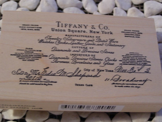 Tiffany And Company Wood Mounted Rubber Stamp By Nahanibluette