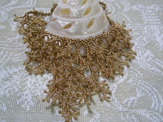 Sun Goddess Elegant Hand Beaded Coral Design Necklace OOAK