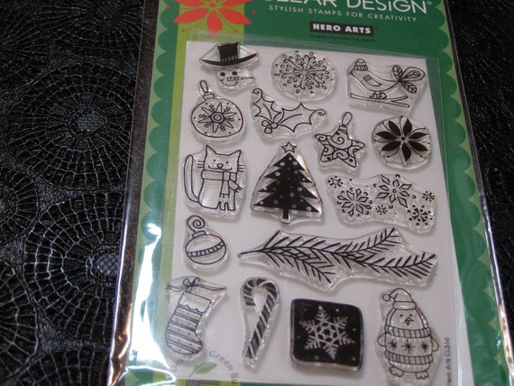 Decorate Your Own Christmas Hero Arts Clear Unmounted Stamps - 16 pieces