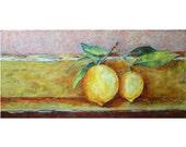 Lemons - original oil painting