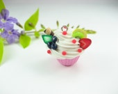Mini Fruity Sundae Cupcake Pendant