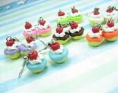 Mini Fun Cupcake Earrings (Choose 3 pairs) - food jewelry food earrings, cupcake earrings, cupcake jewelry, best friend gift, foodie gift